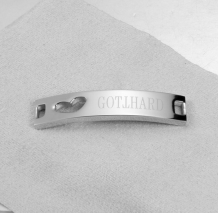 Bracelet women with heart and Gotthard logo