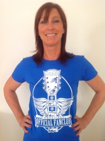 Fanclub Shirt Girlie Royal Blue