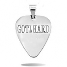 Necklace for men with plectrum & Gotthard logo
